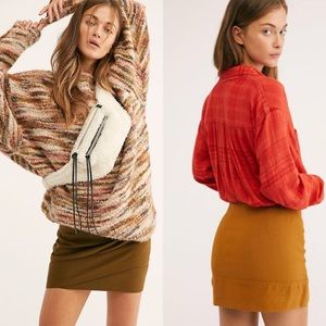 New Free People That's A Wrap Mini Skirt Size 10